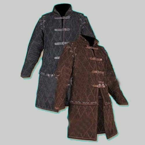Medieval Armour Thick Padded Black And Brown Play Movies Theater Gambeson
