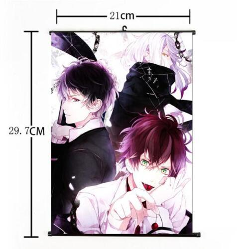 Hot Japan Anime DIABOLIK LOVERS Yui Whole Art Home Decor Poster Wall Scroll 03