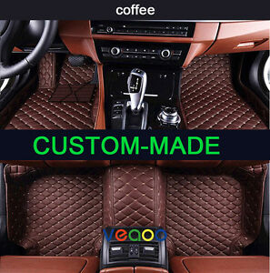 6 Colors Leather Floor Mats for BENZ ML-Class//ML-AMG W166-2012-2016 Carpets
