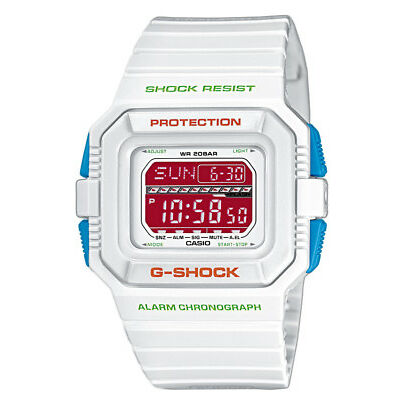 Casio G-Shock G-Lide GLS-5500P-7 Rare Digital White Mens Watch 200M WR GLS-5500