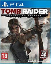 PS4 PlayStation 4 TOMB RAIDER DEFINITIVE EDITION Gioco Nuovo Di Zecca Sigillato