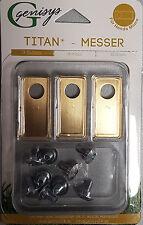 9 Titan Messer Klingen &Schrauben Honda® Miimo geprüfte Qualität Preisgarantie
