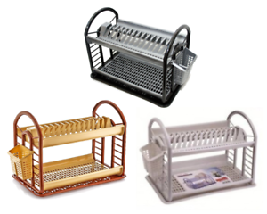 2-Tier-Round-Plastic-Bowl-Plate-Dish-Drainer-Drying-Rack-with-Cutlery-Holder