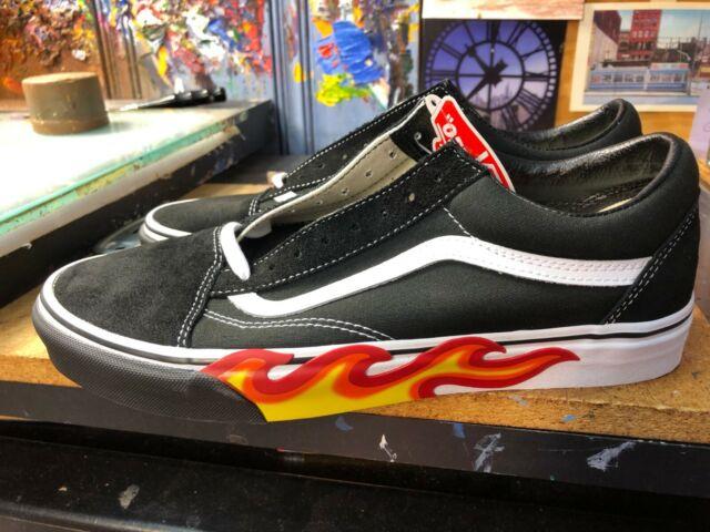 Vans Old Skool Flame Cut Out Black White Size US 11 Men VN0A38G1UJG New Suede