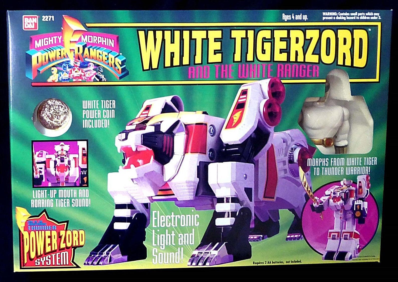 Morphin Power Rangers Weiß Tigerzord with Weiß Ranger 2271 MIB Bandai 1994