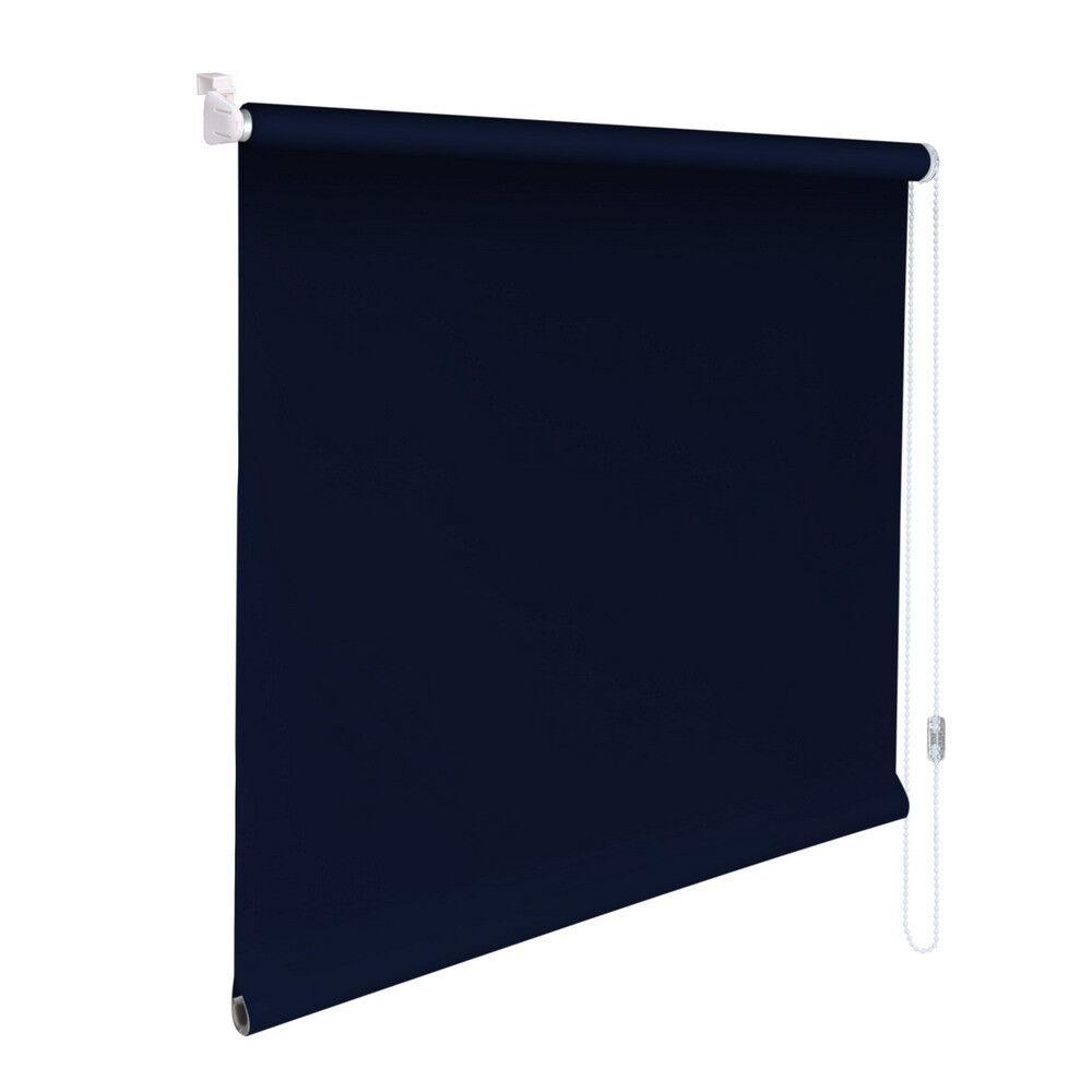 Mini-Rollo Klemmfix Klemmrollo Klemmrollo Klemmrollo Easyfix Sichtschutz - Höhe 110 cm dunkelblau | Leicht zu reinigende Oberfläche  4cf092