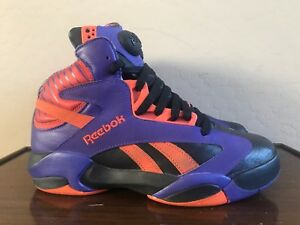 658149a384a7 Image is loading Reebok-Pump-Shaq-Attaq-Phoenix-Suns-Basketball-Sneakers-