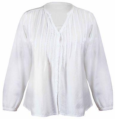 Damen Langärmlig Geknotetes Top V Ausschnitt Perlen Übergröße Shirt Tops 16 - 26