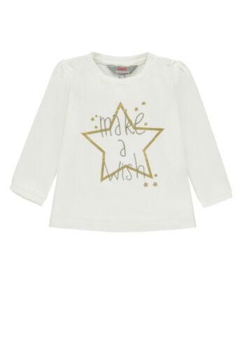 Kanz Baby Mädchen Langarmshirt Gr.62-86  Langarmshirt Sterne creme neu!