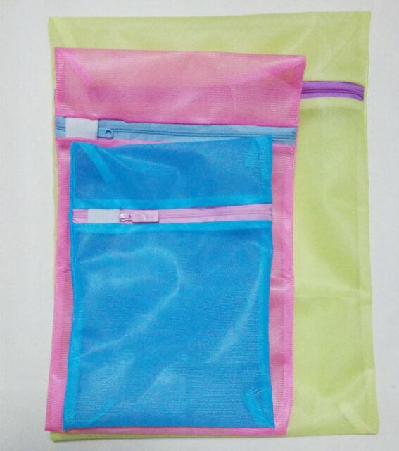 Zipper Nylon Washing Cleaner Bag Laundry Save Lingerie Travel Mesh Net Bag S-XXL