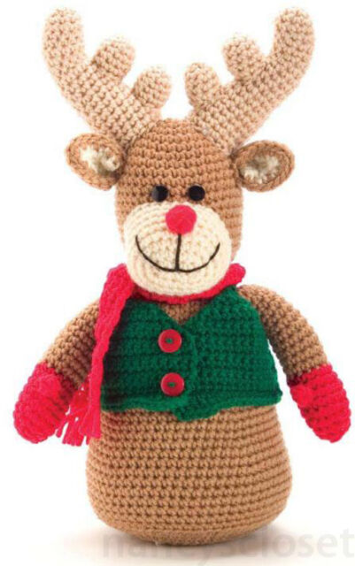 Crochet Pattern Rudolph The Red Nose Reindeer Christmas Toy | eBay