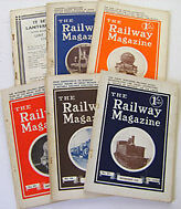 RAILWAY MAGAZINE 1933 Volume LXXIII 6 issues July Dec Nos. 433438