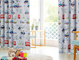 Details about 2 x Room Darkening 180cm EYELET CURTAINS BOY KIDS ROOM baby  bedroom Nursery