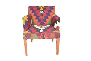 Rare-Comfortable-Armchair-Kilim-Upholstery-Furnitures-Vintage-Furnitures