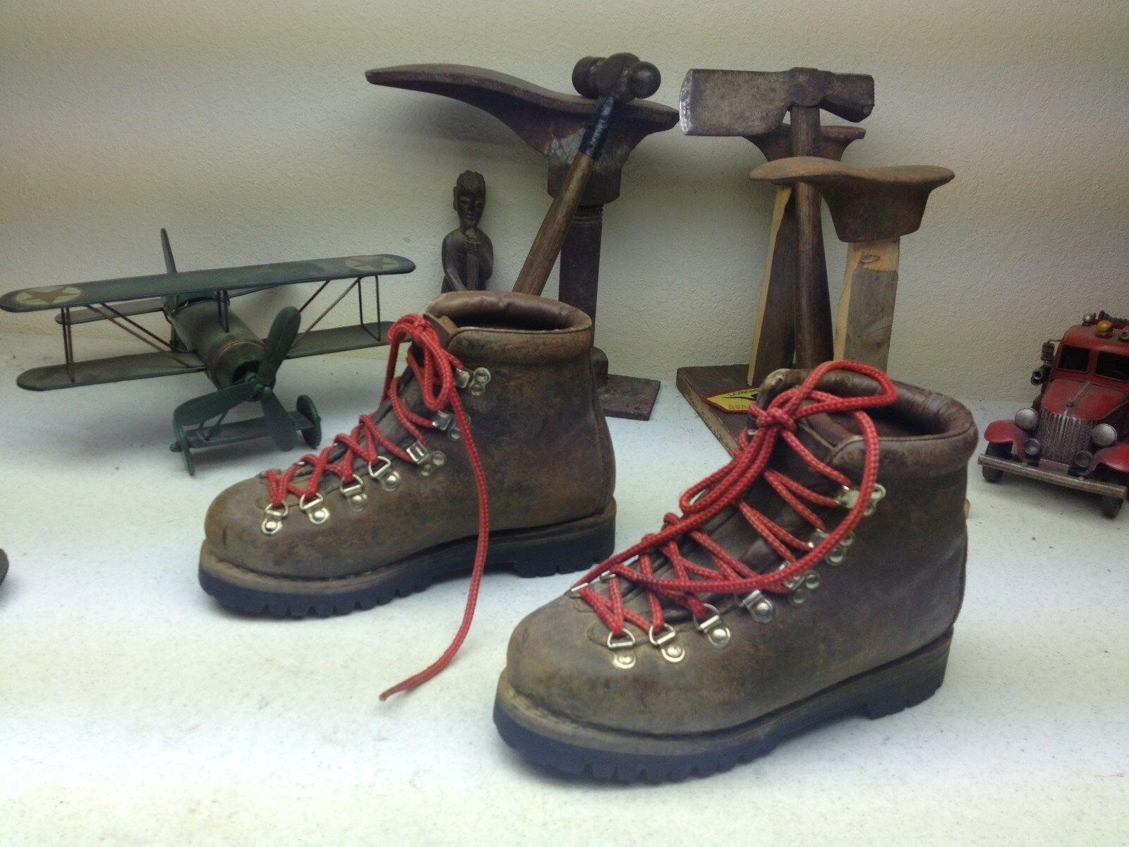 Vintage Tecnica Cuero Marrón lazada Montañismo botas de de de travesía 5.5-6. M  precio mas barato