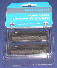 FULL SET SHIMANO S70C XTR, XT, LX, DEORE V- BRAKE SHOE CARTRIDGE INSERT