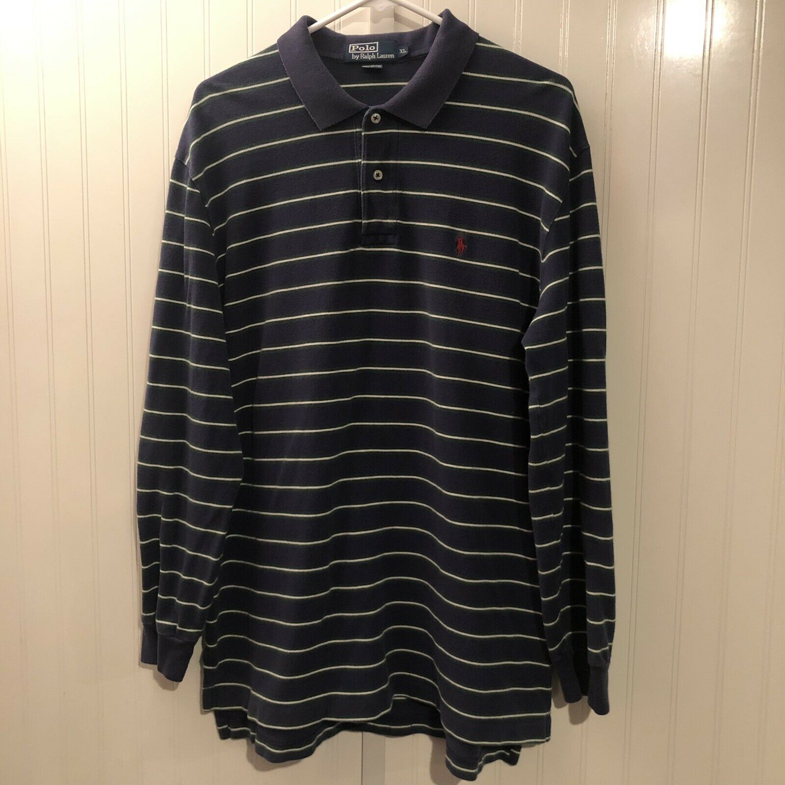 c8f47a2d1f 90s Ralph Lauren Polo Rugby Shirt Striped Chest Pony Mens XL Vintage Vtg X- Large natabp1873-Casual Shirts   Tops