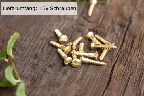 Messing blank Holzschraube 4,0x20 16x Schlitzschraube mit Linsenkopf DIN 95