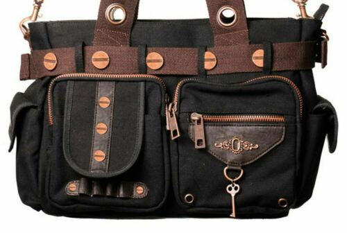 Vintage bolso de la Key Lock Steampunk ropa hombro Prohibida marr g40tg