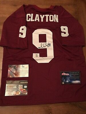 finest selection 2aaa2 a2665 Mark Clayton Oklahoma Sooners OU signed Jersey autographed 100% Authentic  COA | eBay