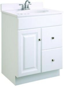 Bathroom vanity cabinet only 24 inch w 18 d unassembled - Unassembled bathroom vanity cabinets ...