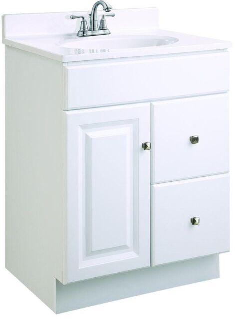 Buy Design House 545004 Wyndham White Semi Gloss Vanity Cabinet With