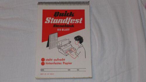 Quick Stenoblock 80 Blatt Standfest mit Mittellinie tintenfestes Papier Vintage