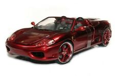 FERRARI 360 SPIDER 1/18 CANDY RED DIE CAST MODEL BY HOT WHEELS WHIPS G8984