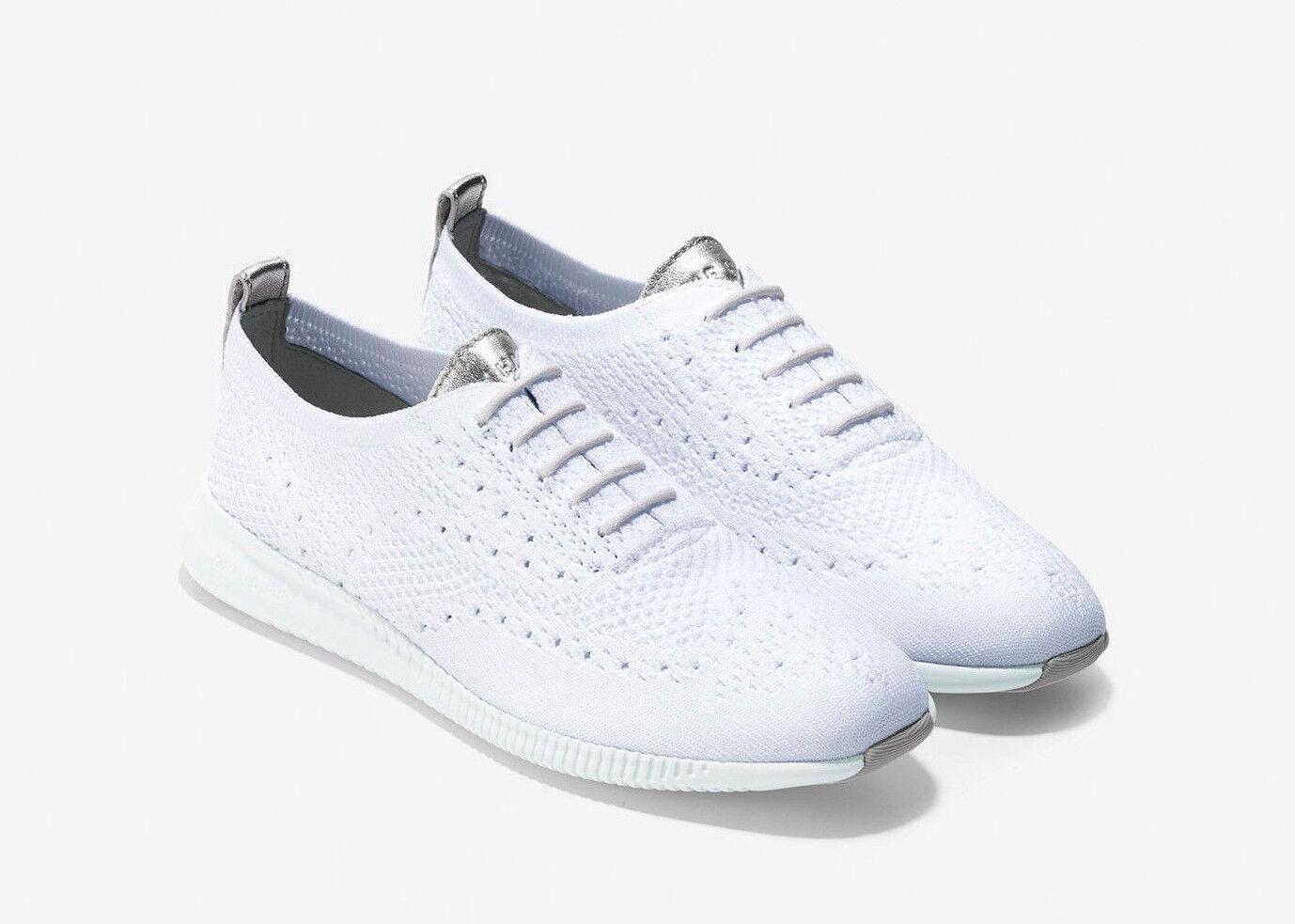 NIB Cole Haan Women's 2.0 Zerogrand Stitchlite Oxford Shoes W10587 Optic White