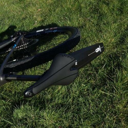 MTB Rear Mudguard Mountain Bike Ass Fender RideGuard Clip On PF2 UK Made Zip Tie