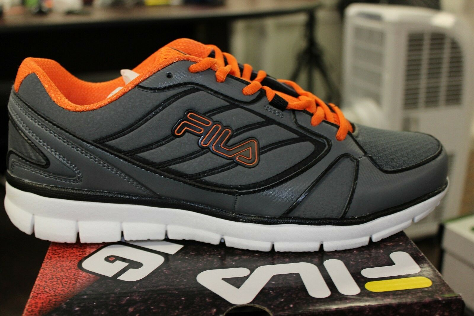 Men's Fila Flare 2 Grey Orange Black Authentic Fila New In Box The most popular shoes for men and women