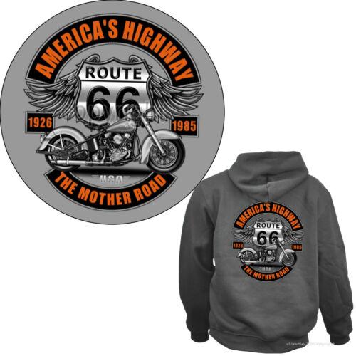 4282 Gris Biker Moto Sweatshirt Classic Harley Motif Capuche Hoodie