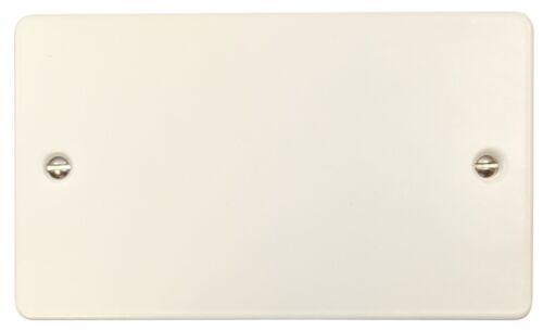 G/&H FW32 plat plat blanc mat 2 Gang Double Plaque vierge