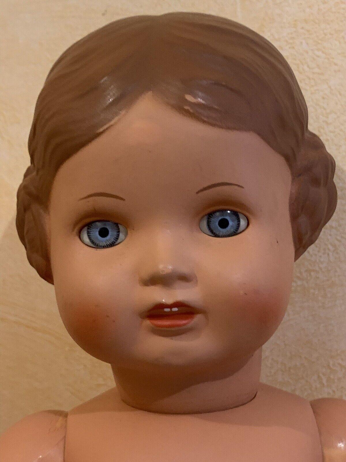Poupée Vintage Allemande Tortue Reproduction Année 1980 En Rhodoïd