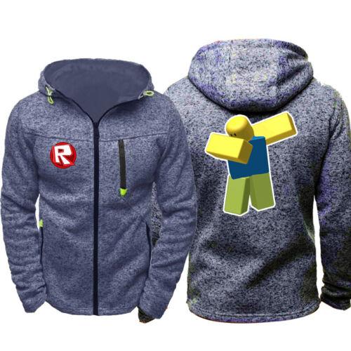 ROBLOX Cosplay Boys Mens Thin Hoodie Zipper Coat Jacket Sweatshirt