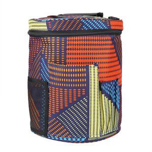 dda10f494c11 Details about Large Round Tote Bag Craft Knitting Crochet Tool Yarn Wool  Organizer Storage Bag