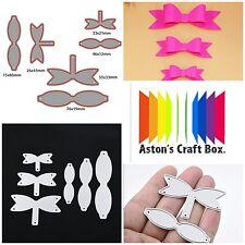 6 x Bow Making Metal Cutting Die Card Making Scrapbooking Diary Embossing