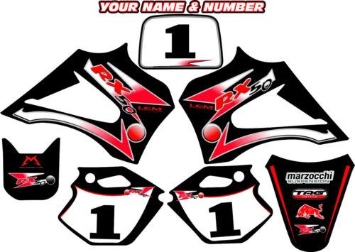 R2 R3 Lx3 Lem Décalque Autocollant Graphique Nom et Numéro 2003-2012 Rx 65 150