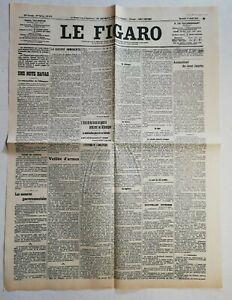 N942-La-Une-Du-Journal-Le-Figaro-1er-Aout-1914-guerre-imminente