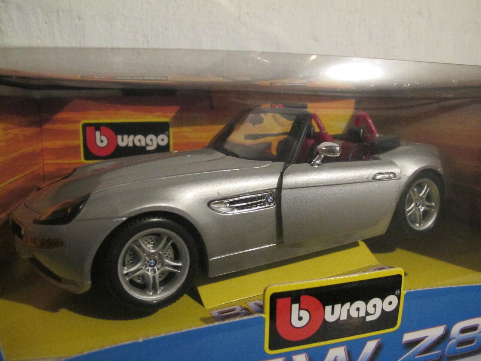 1 18 BMW z8 de Bburago en ARGENT, NOUVEAU & NEUF dans sa boîte, RARE