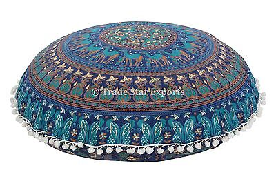Large Floor Pillows With Insert Mandala Ottoman Poufs Ethnic Cushion Cover Throw