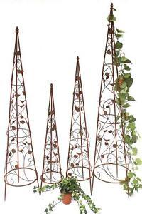 Rankhilfe pyramide metall set 082547 kletterhilfe obelisk for Rankhilfe metall obelisk