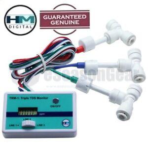 Hm Digital Trm-1 Triple Connecté Tds Moniteur Avec 3x 1/4 Fixations,ppm Dm Mètre