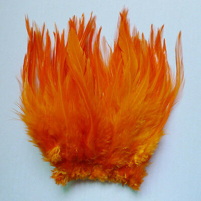 "wholesale 50pcs orange The rooster feathers 10-15cm/4-6"" for  DIY craft"
