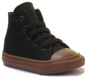 Converse-Chuck-Taylor-All-Star-Infants-Brown-Black-Canvas-Trainers