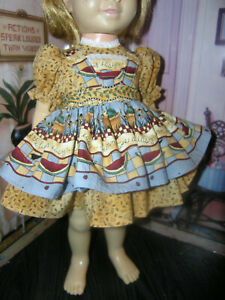 """BLUE AND LACE DRESS FOR 19-20/"""" DOLL MINT IN PACKAGE"""