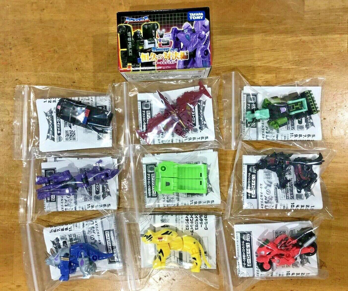 Transformers Micron Booster versión 4 Minicon exclusivo de Japón, Set Completo De 9
