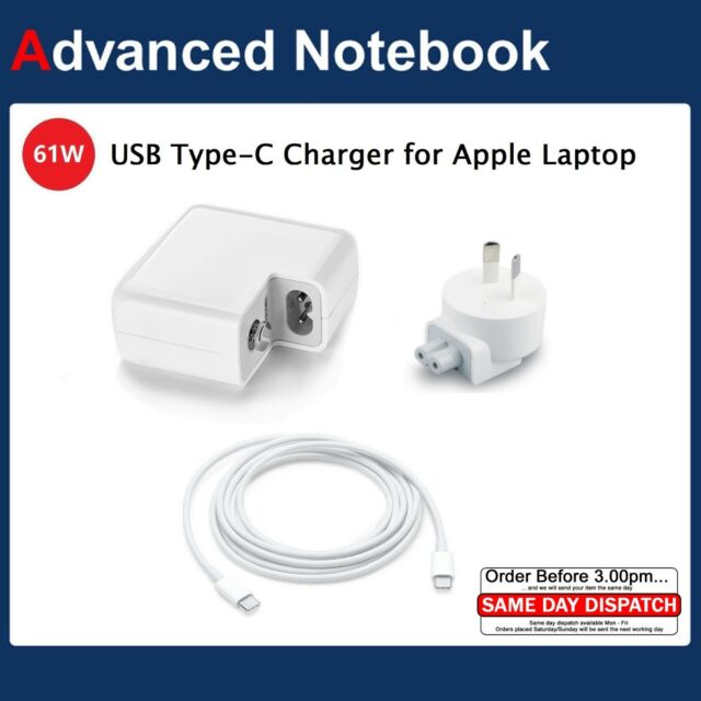 """61W for Apple MacBook Pro 13"""" USB-C Type C A1718 A1706 A1708 AC Adapter Charger"""