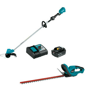 Makita-XRU11M1-18V-LXT-String-Trimmer-Kit-with-Free-XHU02Z-Hedge-Trimmer-New
