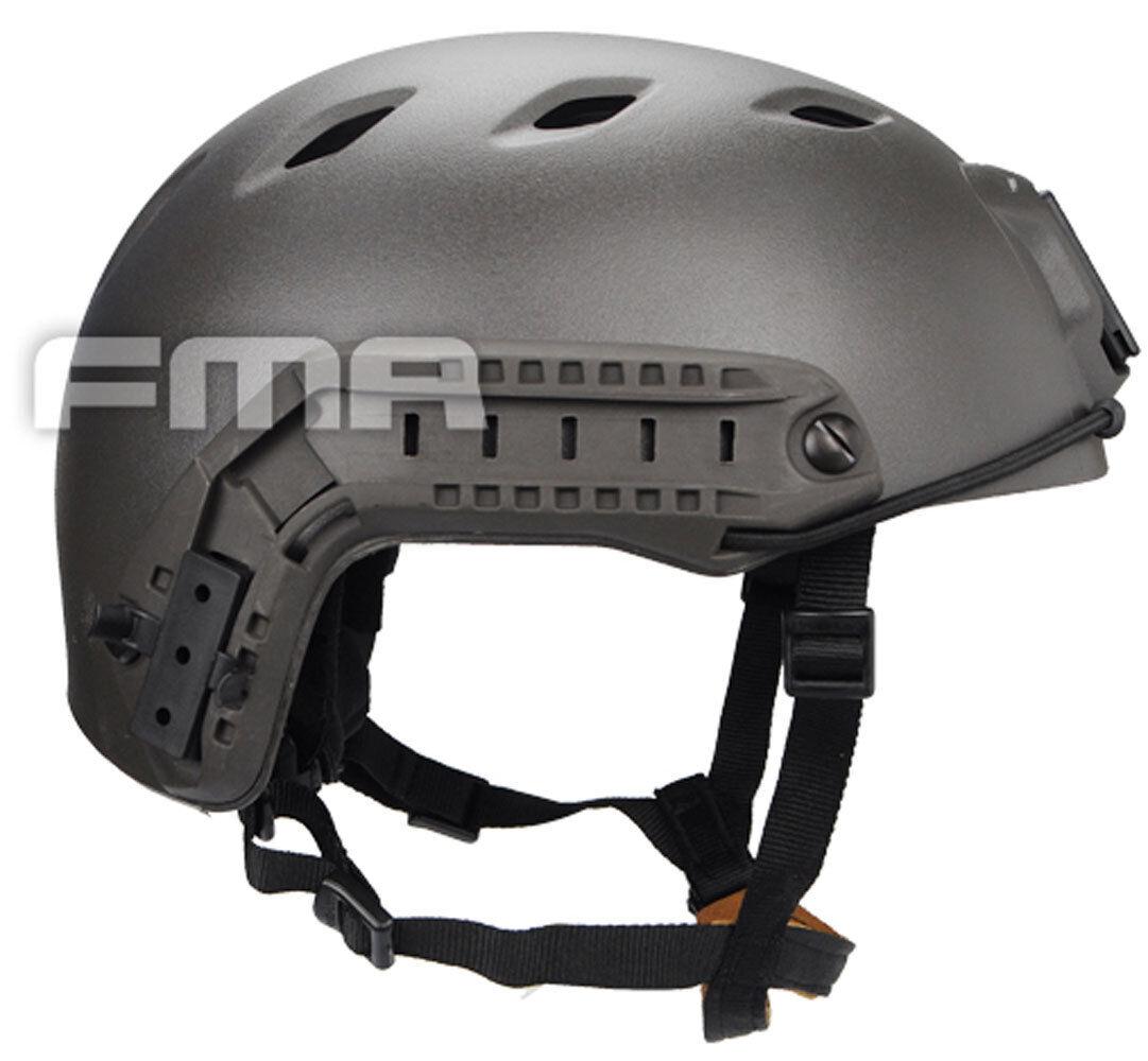NEW FMA Airsoft CS  Outdoor Predective ACH Base Jump Helmet Mass Grey Size M L  sale online discount